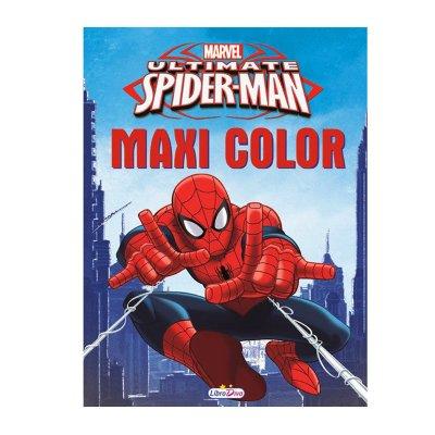 Libros Maxi Color Spiderman 17x22.5cm 80 páginas 2 adhesivas