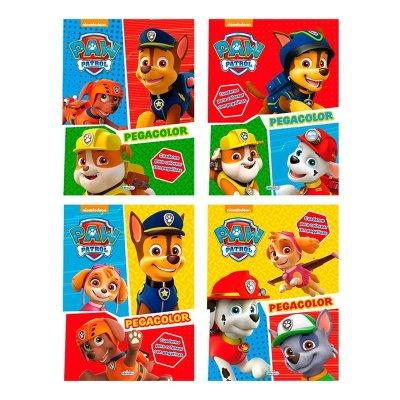 Libros Pegacolor Paw Patrol 21x28cm 12 páginas 4 adhesivas