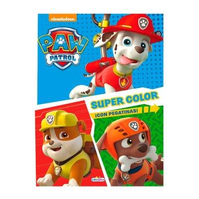 Libros Super Color Paw Patrol 21x28cm 48 páginas 2 adhesivas