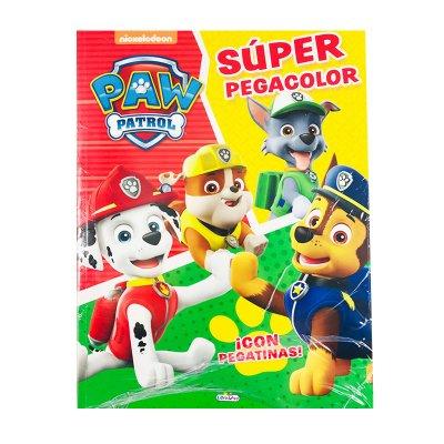 Libros Super Pegacolor Paw Patrol 21x28cm 40 pgs 4 adhesivas