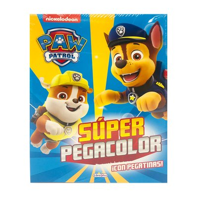 Libros Super Pegacolor Paw Patrol 21x28cm 40pgs