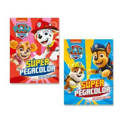 Wholesaler of Libros Super Pegacolor Paw Patrol 21x28cm 40pgs