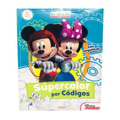 Wholesaler of Libro Súpercolor por códigos La casa de Mickey Mouse 20x28cm
