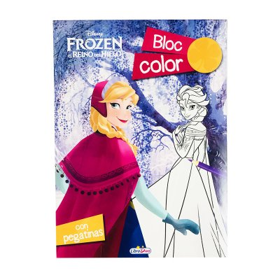 Bloc Color Pegatinas Frozen Disney 16x22cm 80pgs 2 adhesivas