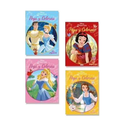 Libros Pega y Colorea Princesas Disney 21x28cm