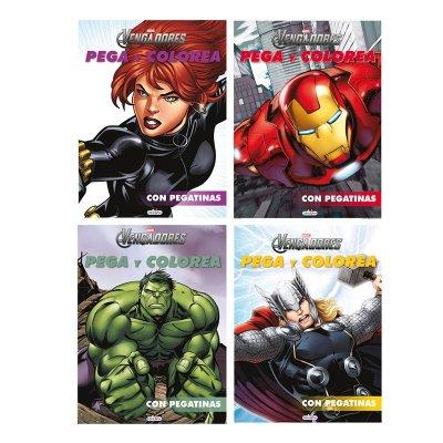 Libros Pega Colorea Los Vengadores 21x28cm 12 pgnas 4 adhes