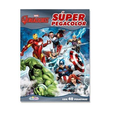 Libros Super Pegacolor Los Vengadores 21x28cm 40pgs