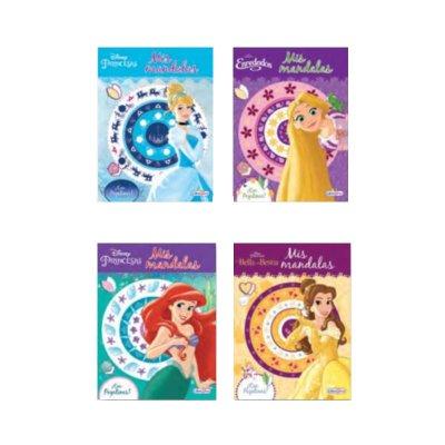 Mis mandalas colores con pegatinas Princesas Disney