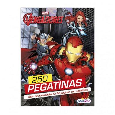 Libro 250 pegatinas Los Vengadores Marvel 21x28cm 32 pgnas