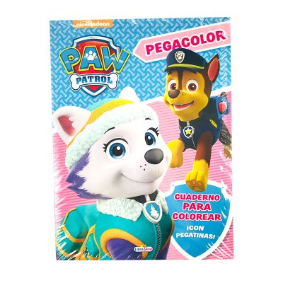 Libros Pegacolor Paw Patrol Skye niña 21x28cm 12 pgs 4 adhesivas