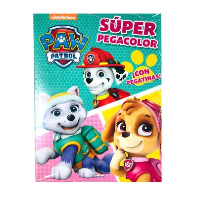 Libros Super Pegacolor Paw Patrol Skye 21x29cm 40 pgs