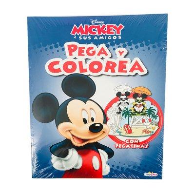 Libros Pegacolor Mickey 21x28cm 12 pgs 4 adhesivas
