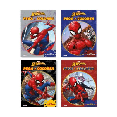 Libros Pega y Colorea Spiderman Marvel 21x28cm