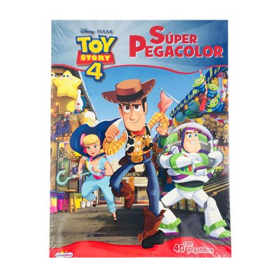 Libro Super Color c/pegatinas Toy Story 4 21x28cm