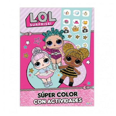Libro Super Color c/actividades LOL Surprise 21x28cm