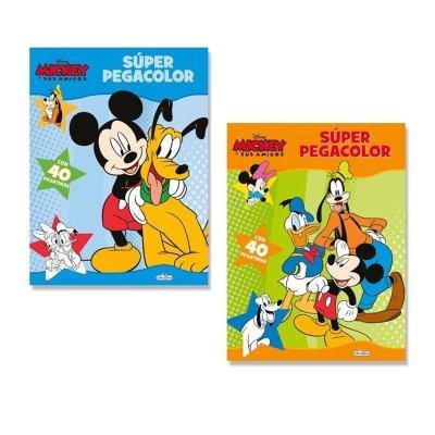 Libros Súper Pegacolor Mickey y sus amigos