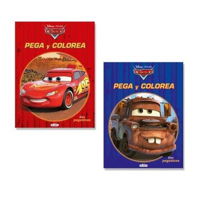 Libros Pega y colorea Cars Disney
