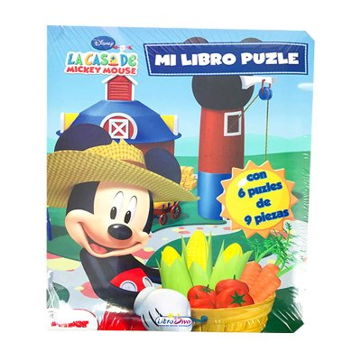 Mi Libro Puzzle Mickey 16x20cm 12 páginas