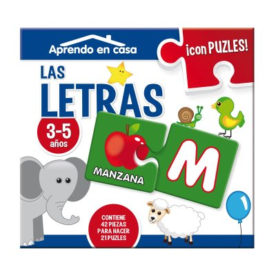 Aprendo en casa las letras c/puzzles