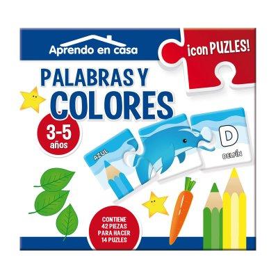 Aprendo en casa palabras y colores c/puzzles