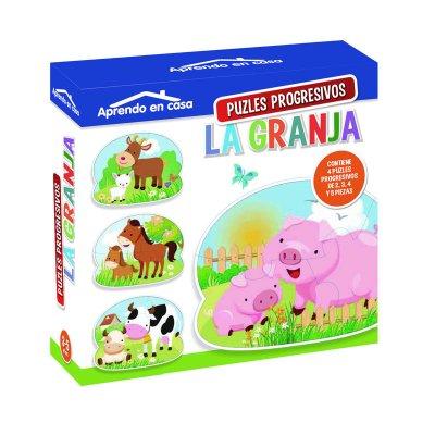 Aprendo en casa La Granja c/puzzles