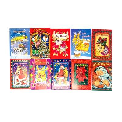 Tarjetas pequeñas c/sobres Feliz Navidad