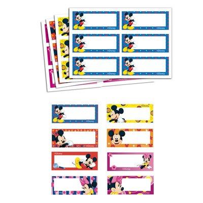 Etiqueta impresa nombre Mickey & Minnie - Ref. 9978C