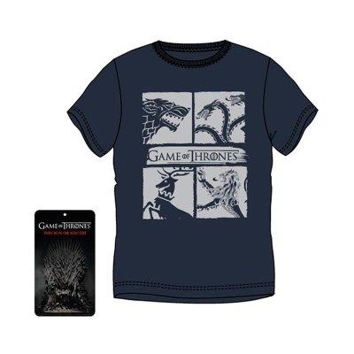 Camiseta adulto Juego de Tronos 4 Casas - modelo 1