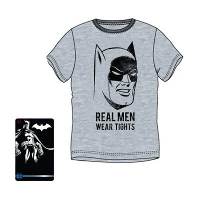 Camiseta adulto Batman Real Men Wear Tights
