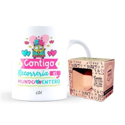 Wholesaler of Taza cerámica frases - Contigo recorreria el mundo