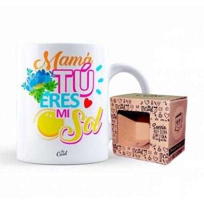 Taza cerámica frases - Mamá tú eres mi sol