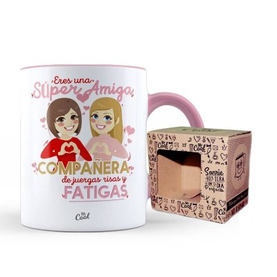 Wholesaler of Taza cerámica frases - Eres una súper amiga