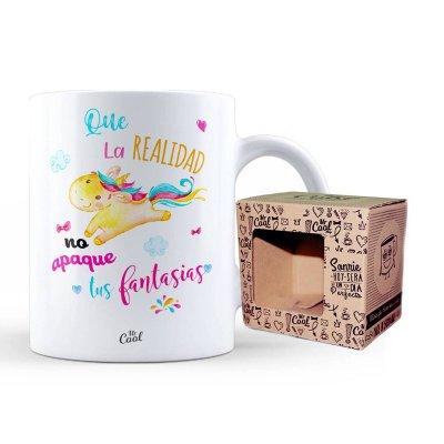 Wholesaler of Taza cerámica frases - Que realidad no apague tus fantasías