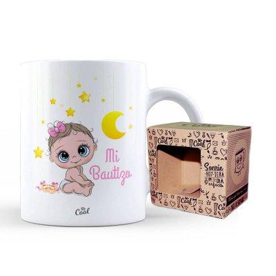 Taza cerámica frases - Mi bautizo niña