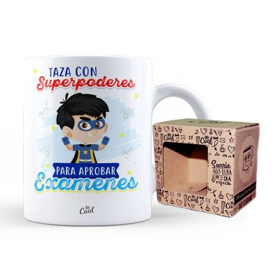 Wholesaler of Taza cerámica frases - Taza con superpoderes para aprobar