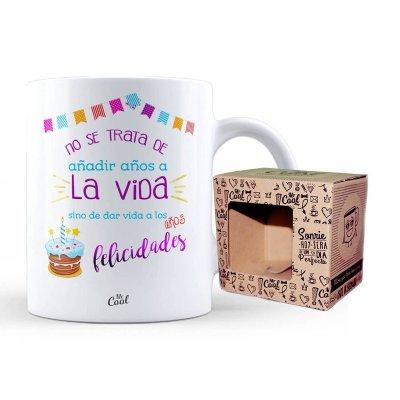 Wholesaler of Taza cerámica frases - No se trata de añadir años