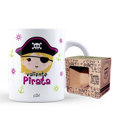 Wholesaler of Taza cerámica frases - Valiente Pirata niña