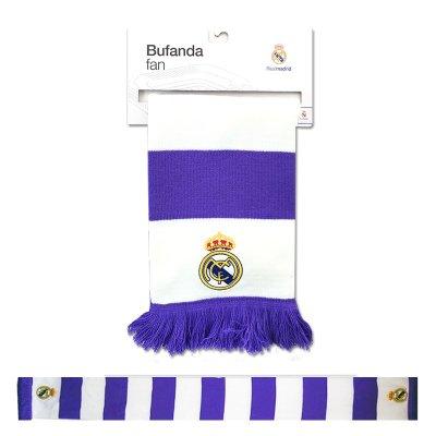 Wholesaler of Bufanda rayas moradas blancas Real Madrid 150x18cm