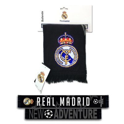 Bufanda negra Real Madrid New Adventure 130x17cm