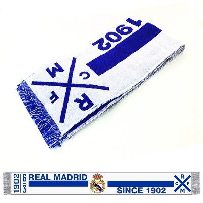 Bufanda azul blanca Real Madrid Since 1902 150x18cm