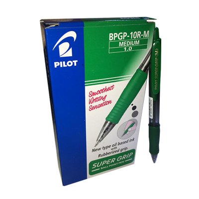Wholesaler of Bolígrafo Pilot Supergrip verde 1.0mm