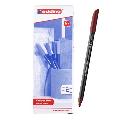 Wholesaler of Rotulador Edding 1200 28-rojo inglés 1mm