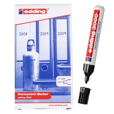 Wholesaler of Rotulador permanente Edding 3000 01-negro 1.5-3mm