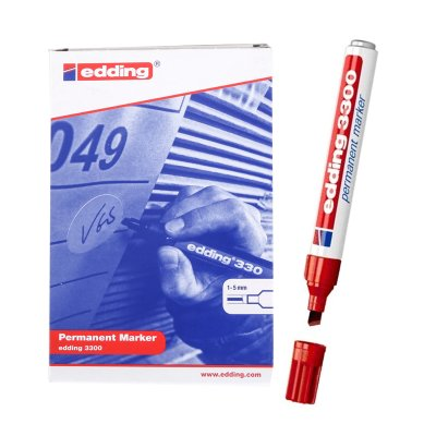 Wholesaler of Rotulador permanente Edding 3300 02-rojo 1-5mm