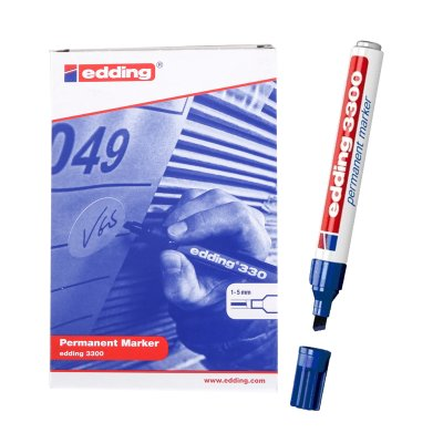 Distribuidor mayorista de Rotulador permanente Edding 3300 03-azul 1-5mm